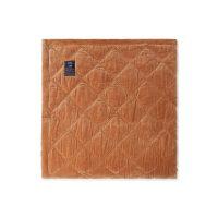 Lexington – Quilted Cotton Velvet Bedspread 160×240 cm Dark Beige