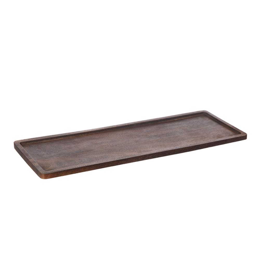 ERNST – Träbricka 15×45 cm Mörkbrun